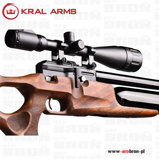 Wiatrówka PCP Kral Arms Puncher Jumbo 4,5mm - drewno, regulator